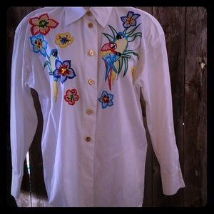 Vintage Escada shirt embroidered/great 4 cruise 10
